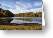 Indiana Autumn Greeting Cards - Afternoon at the Lake Greeting Card by Sandy Keeton