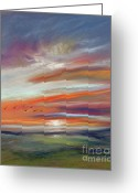Setting Pastels Greeting Cards - Afternoon Flight Greeting Card by Addie Hocynec