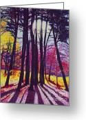 Cindy Longhini Greeting Cards - Afternoon Forest Greeting Card by Cindy Lee Longhini