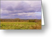 Autumn In The Country Photo Greeting Cards - Afternoon In The Country Greeting Card by Katina Cote