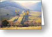 Sheds Greeting Cards - Afternoon Light Tarana  Greeting Card by Graham Gercken