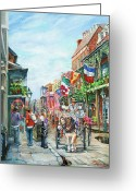 New Orleans Artist Greeting Cards - Afternoon on St. Ann Greeting Card by Dianne Parks