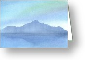 Ocean Landscape Pastels Greeting Cards - Afternoon on the Water Greeting Card by Hakon Soreide