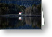 Johannessen Greeting Cards - Afternoon Reflections Greeting Card by Torfinn Johannessen