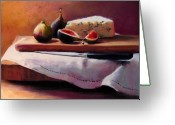 Food Pastels Greeting Cards - Afternoon Snack Greeting Card by Jeanne Rosier Smith