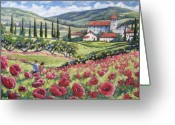 Flowers Direct Greeting Cards - Afternoon Stroll Greeting Card by Richard T Pranke