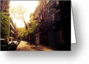 Greenwich Greeting Cards - Afternoon Sunlight on a New York City Street Greeting Card by Vivienne Gucwa