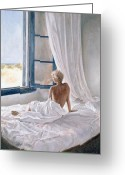 Nudes Greeting Cards - Afternoon View Greeting Card by John Worthington 