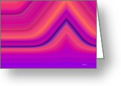 Color Bending Greeting Cards - Aftershock Greeting Card by Greg Reed Brown