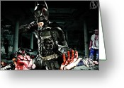 Gotham City Greeting Cards - Against the odds Greeting Card by The DigArtisT