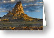 Peak One Greeting Cards - Agathla Peak The Basalt Core Of An Greeting Card by Tim Fitzharris