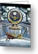 Clip Greeting Cards - Aged Boyce Moto-Meter with added Paper Clip Greeting Card by Kaye Menner