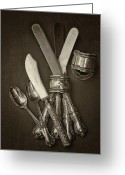Utensil Greeting Cards - Ageless Beauty Greeting Card by Russell Styles