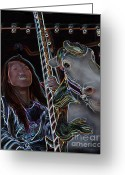 Merry-go-round Greeting Cards - Ageless Fun Greeting Card by Tom Griffithe