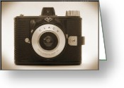 White Digital Art Greeting Cards - Agfa Clack Camera Greeting Card by Mike McGlothlen