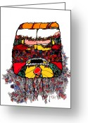 Metis Art Greeting Cards - Aggression Greeting Card by Dan Daulby