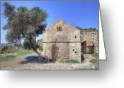 Crete Greeting Cards - Aghios Georgios Phalandras - Crete Greeting Card by Joana Kruse