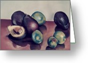 Frisco Pastels Greeting Cards - Aguacates con limon Greeting Card by Diana Moya