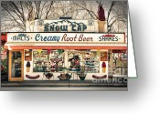 The Mother Road Greeting Cards - Ah - Such Sweet Memories Greeting Card by Sandra Bronstein