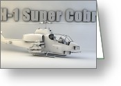 Cinema 4d Greeting Cards - AH-1 Super Cobra Greeting Card by Dale Jackson