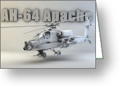 Cinema 4d Greeting Cards - AH-64 Apache Greeting Card by Dale Jackson