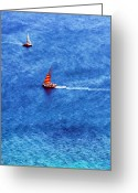 Diamond Head Greeting Cards - Ahoy Greeting Card by Joel Lau
