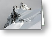 Frozen Greeting Cards - Aiguille Du Midi Greeting Card by Ellen van Bodegom