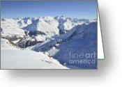 Snowy Range Greeting Cards - Aiguilles de la Grande Sassiere Greeting Card by Andy Smy
