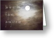 Ym_art Greeting Cards - Aim for the Moon Greeting Card by Yvon -aka- Yanieck  Mariani