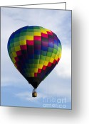 Balloon Fest Greeting Cards - Air Balloon 1483 Greeting Card by Terri Winkler