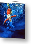 Sports Art Greeting Cards - Air Force Greeting Card by Hanne Lore Koehler