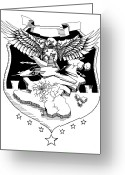 Freedom Fighter Brand Greeting Cards - Air Force Greeting Card by Scarlett Royal