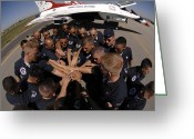 Uniform Greeting Cards - Air Force Thunderbird Maintainers Bring Greeting Card by Stocktrek Images