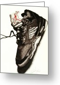 Air Greeting Cards - Air Jordan Greeting Card by Robert Morin