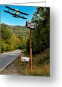Plane Greeting Cards - Air Mail Delivery Maine Style Greeting Card by Bob Orsillo