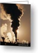 Soot Greeting Cards - Air Pollution Greeting Card by Michal Boubin