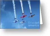 Vapor Greeting Cards - Air Show Greeting Card by Carlos Caetano