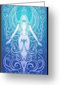 Spirituality Digital Art Greeting Cards - Air Spirit Greeting Card by Cristina McAllister
