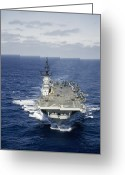 Aircraft Carrier Greeting Cards - Aircraft Carrier Increases Speed Greeting Card by J. Baylor Roberts