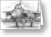 Appliances Drawings Greeting Cards - Aircraft Greeting Card by Natali Murashko