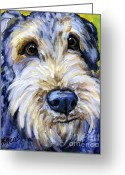 Terriers Greeting Cards - Airedale Terrier Cutie Portrait Greeting Card by Dottie Dracos