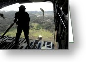 Straps Greeting Cards - Airman Watches A Practice Bundle Fall Greeting Card by Stocktrek Images