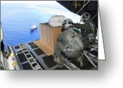 Humanitarian Aid Greeting Cards - Airmen Gauge The Distance Greeting Card by Stocktrek Images