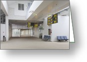 Airport Concourse Greeting Cards - Airport Concourse Greeting Card by Jaak Nilson