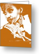 Girlfriend Greeting Cards - Aisha Brown Greeting Card by Irina  March