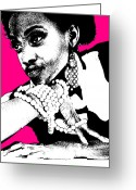Makeup Greeting Cards - Aisha Pink Greeting Card by Irina  March