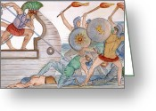 Trojan Greeting Cards - Ajax: Trojan War Greeting Card by Granger