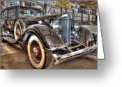 Orchards Greeting Cards - Al Capones Car Greeting Card by Nicholas  Grunas