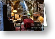Mob Greeting Cards - Al Capones Cell - Scarface - Eastern State Penitentiary Greeting Card by Paul Ward