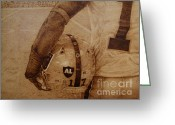 Los Angeles Pyrography Greeting Cards - Al Davis Tribute - Denarious Moore #17 Greeting Card by Steven Hawkes